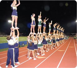 Cheerleading. Cheers, chants, the fight song and dances –your spirit ...